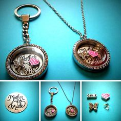 MOTHER OF THE BRIDE filled Living Memory Locket choice chain - WEDDING favours