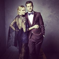 Stunning Celebrity Portraits Taken at Vanity Fair's Oscar Party. Diane Kruger and Joshua Jackson.
