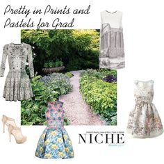 """""""Pretty in Prints and Pastels for Grad"""" by niche-magazine on Polyvore"""
