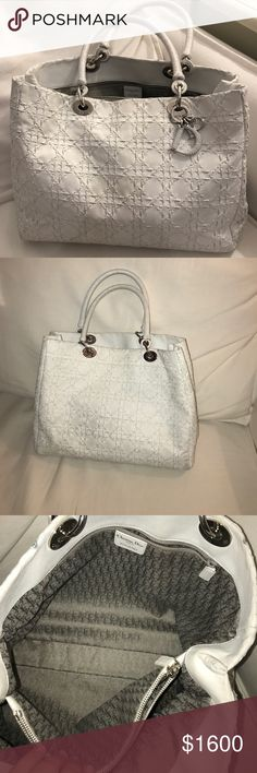 EUC AUTHENTIC Christian Dior Limited Edition Large Braided Leather Lady Dior.  Comes with dustbag 59984def67e08