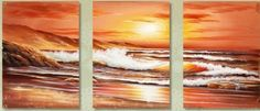 100% Hand Painted Oil Painting Abstract Art Large Modern Art Hawaii Beach Blue Sea Painting 3 Piece Wall Art Canvas Art for Home Decoration (Unstretch No Frame) by galleryworldwide, http://www.amazon.com/dp/B00BM3A8Q0/ref=cm_sw_r_pi_dp_pRLRrb0EZDHDB