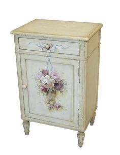 Ideas Hand Painted Furniture Shabby Chic Home Decor For 2019 Decoupage Furniture, Hand Painted Furniture, Repurposed Furniture, Furniture Projects, Furniture Makeover, Diy Furniture, Furniture Chairs, Furniture Stores, Shabby Chic Kitchen