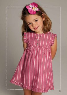 Ropa de Niños | Neck Frocks For Girls, Dresses Kids Girl, Kids Outfits, Kids Frocks Design, Baby Frocks Designs, Baby Girl Fashion, Toddler Fashion, Kids Fashion, Womens Fashion
