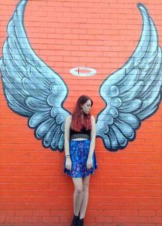 Wall Graffiti Ideas Draw 24 Ideas For 2019 Murals Street Art, Street Art Graffiti, Graffiti Wall Art, Mural Art, Angel Wings Art, Wings Drawing, Wall Drawing, Wing Wall, Amazing Street Art