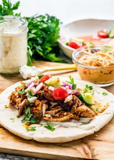 This INSTANT POT CHICKEN SHAWARMA will blow your mind! Try my easy and popular chicken shawarma recipe now in an instant pot with an amazing garlic sauce.