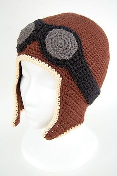 I made one similar to this for Baby Anthony.  Used my own pattern.  Had I but known that I didn't have to work so hard to create my own pattern.  Ravelry: Aviator Hat PDF Crochet Pattern pattern by Jessica Schleicher