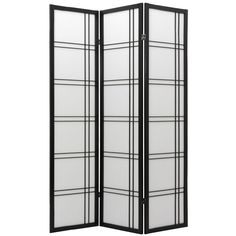 Double Cross Shoji Screen Room Divider - Room Dividers at Hayneedle $113