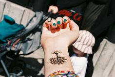 Small tree tattoo on the wrist