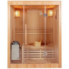 The 3 person sauna room has 2 bench (level). ALEKO Indoor Hemlock Canadian Wood Sauna brings all the luxury and comfort of the indoor Sauna at a more accessible price point. Improve your health by: sleeping Dry Sauna, Steam Sauna, Mini Sauna, Canadian Hemlock, Indoor Sauna, Traditional Saunas, Stove Accessories, Sand Glass, Ideas
