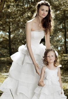 Matching wedding and flower girl dresses. :) so cute