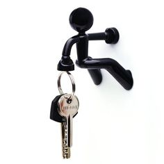Diageng Key Pete Strong Magnetic Key Holder Hook Rack Magnet - Black