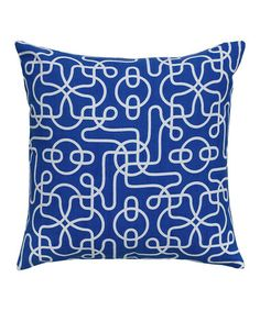 Take a look at this Blue & White Doodle Pillow by Rizzy Home on #zulily today! $20 !!