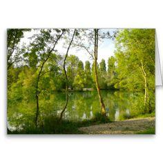 Spring Lake, Charente, France Greeting Cards