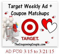 Here is the NEW Target Ad for 3-15 to 3-21-15 with Coupon Matchups. Another week of GREAT Deals! This weeks ad should have FREE $5 Gift Card wyb $20 or more of Personal Care Items! ► http://www.thecouponingcouple.com/target-ad-for-3-15-to-3-21-15-coupon-matchups/  #Coupons #Couponing #CouponCommunity  Visit us at http://www.thecouponingcouple.com for more great posts!