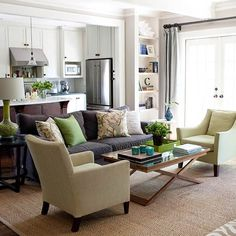 Colour scheme: grey with green accents