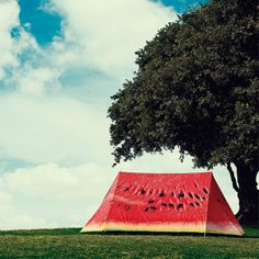 What a Melon Tent by FieldCandy. Love it! Summer festival funnies.