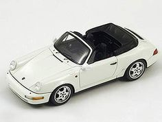 Porsche 964 Carrera 2 Cabriolet Resin Model Car by Spark This Porsche 964 Carrera 2 Cabriolet Resin Model Car is White. It is made by Spark and is scale (approx. Porsche Models, Porsche 964, Model Car, Diecast Models, Scale Models, Carrera, Resin, Character, Porsche 911