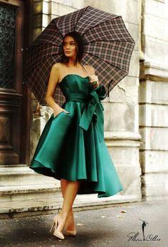 Gorgeous Marie Ollie green dress