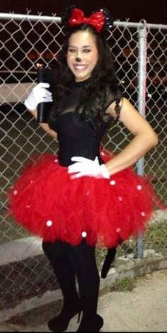 Minnie mouse costume halloweene I LoVe!  sc 1 st  Pinterest & Homemade Minnie Mouse Costume Ideas. | Party time! | Pinterest ...