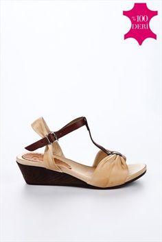 Bambi -  Seri Sonu - Hakiki Deri Bej Dolgu Topuklu Ayakkabı V0469010303 %78 indirimle 49,99TL ile Trendyol da