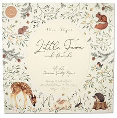 Craft Consortium Double-Sided Paper Pad - Little Fawn & Friends. Discover more accessories by Craft Consortium at LoveCrafts. From knitting & crochet yarn and patterns to embroidery & cross stitch supplies! Shop all the craft materials you Woodland Illustration, Hand Illustration, Illustrations, Woodland Theme, Woodland Animals, Woodland Art, Friend Crafts, Fine Paper, Paper Art