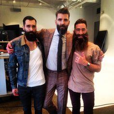 Luke Ditella - Gregory Broome - Jimmy Niggles - three beards full thick bushy beards bearded man men beard bearding mens' style handsome #powerbeards #beardlegends #beardsofinstagram #beardsforever