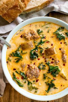Tuscan Sausage Potato Soup | | Lemon Tree Dwelling