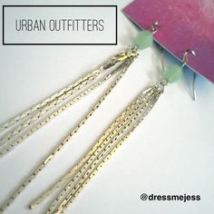 Urban Outfitters Mint Dangle Earrings NWT Urban Outfitters silver and mint dangle earrings. Beautiful and perfect for the spring! Urban Outfitters Jewelry Earrings
