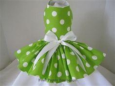Lime Polka Dot Dress