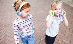 Buddyphones Volume Limiting Headphones for Kids with a built-in splitter. So handy!