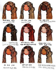 Michelles MBellishments: favorite copic color combos