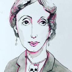 Virginia Woolf #virginiawoolf #portrait #ink #neon #skull #artstuttgart #paper #artcritics #artcontemporany #artcontemporary #artgallery #artgallery #artgalleryofnsw #artgallary #artcollectorx #artcollective2017