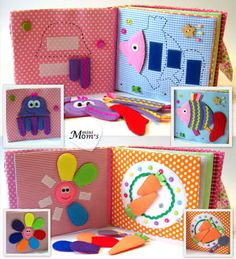 Children's Quiet Book Busy Book Eco friendly от MiniMoms на Etsy. the puzzle is cute!