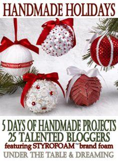 Christmas Craft Round Up:  Handmade Holidays Showcases Christmas Decorating Ideas