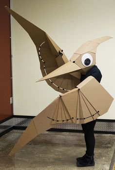 Figure 1. Pteranodon costume with wings that fold in the plane of the wing.