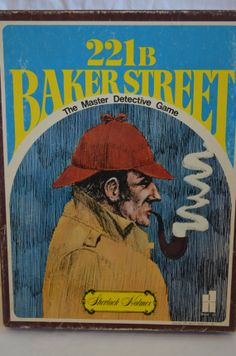 Vintage 221B Baker Street: The Master Detective Game Sherlock Holmes Board Game