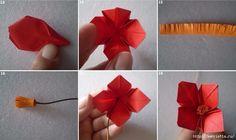Бумажные цветы в горшочках в технике оригами. Обсуждение на LiveInternet - Российский Сервис Онлайн-Дневников