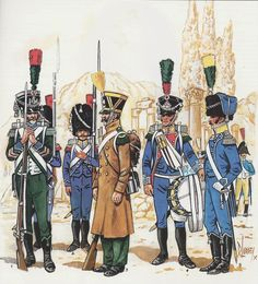 Regiment d'Isembourg (Prussian's in French Service) Military Art, Military History, Military Uniforms, Empire, French Army, Napoleonic Wars, Modern History, Reference Images, Revolutionaries