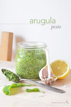 Arugula Pesto - This light and tasty pesto overflows with early-season flavor and is perfect for welcoming the warm spring sunshine.