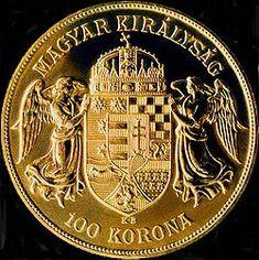 Magyar Királyság feliratú száz koronás pénzérme, 1908