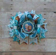 Anna and Elsa Stacked hair bow/ OTT, Frozen OTT Stacked Bow