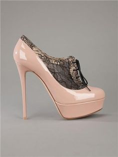 High heels pics / Patent leather beige high heels with laces  Womans heaven |2013 Fashion High Heels|