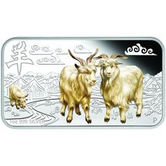 2015 Colorized Australian Goat Silver Rectangle Sets from JM Bullion™ Silver Bars, Form, Goats, Moose Art, Animals, Goat, Simple Sentences, Animaux, Animal