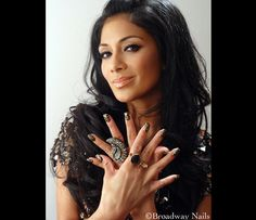 Nicole Scherzinger reppin her product - imPRESS stick-on nails. First day of them on and I LOVE them!