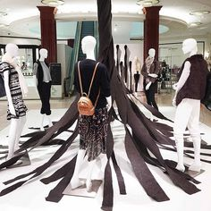 "SAKS FIFTH AVENUE, ,Phoenix,Arizona, ""Fall's Chic Preview"", (Installation inspired by artist Robert Morris), pinned by Ton van der Veer"