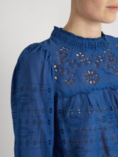 Click here to buy Sea Pleated broderie-anglaise cotton top at MATCHESFASHION.COM