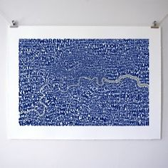 Greater London Map by Ursula Hitz World Map Wall Art, Map Art, Greater London Map, Unusual Presents, Art For Sale Online, Silk Screen Printing, Typography Art, Affordable Art, City Art