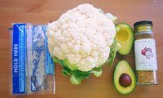 Easy Avocado Garlic Parmesan Cauliflower Mash! So easy you can make from your dorm room!