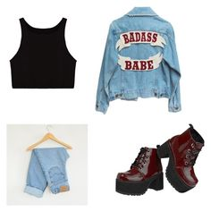 concert by emma-robion on Polyvore featuring polyvore fashion style Levi's T.U.K. clothing patchesandpins