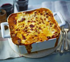 This is a classic lasagne recipe which has been perfected over the years. For the best results leave the lasagne to stand for six hours before cooking.